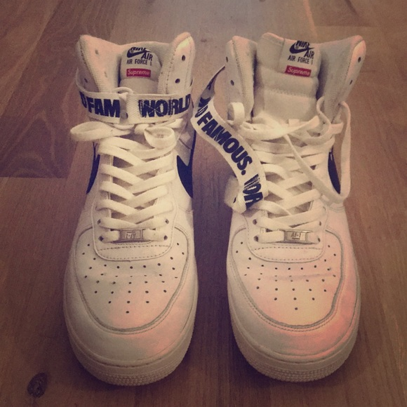 info for 0f3f0 b7334 Nike Air Force 1 High Supreme World Famous White